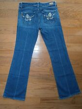 Womens Paige Laurel Canyon Jeans Bootcut Jeans 29 (8) Low rise Stretch Rose pock