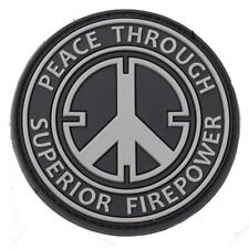 Airsoft Superior Fire Power Patch Swat Black Rubber