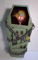 Vintage Gemmy Animated Screaming Cursed Coffin Zombie Mummy Halloween Decor FUN