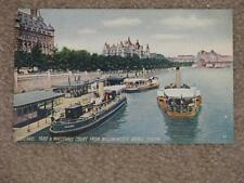 Scotland Yard & Whitehall Court from Westminster Bridge, London, unused vintage