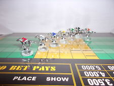 7 PIECE FIGURINE VINTAGE APBA AMERICAN SADDLE WIN PLACE SHOW HORSE RACING GAME
