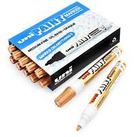 Uni-Ball PX-20 Paint Marker Permanent Ink - Medium Nib - Shiny Bronze - 12 Pack