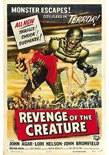 Revenge of the Creature - John Agar -  A4 Laminated Mini Poster