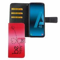 Samsung Galaxy A40 Étui Coque Téléphone Portable Protection Sac Clapet Housse de