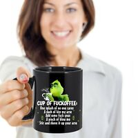Grinch Cup of Fuckoffee Coffee Ceramic Black Coffee Mug Tea Cup Funny Gift Mug
