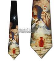 Christmas Ties Manger Necktie Religious Holiday Neck Tie NWT