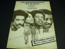 The Independents It's All Over Chuck Jackson - Marvin Yancy 1973 Promo Poster Ad