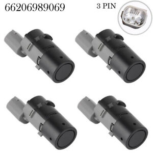 4Pcs For BMW E38 E39 E46 E53 E60 E61 E63 X5 PDC Rear Parking Sensor 66206989069