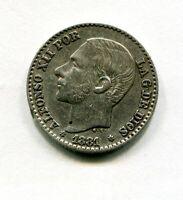 50 CENTIMOS PLATA   ALFONSO XII 1881  * 8 , 1  EBC -