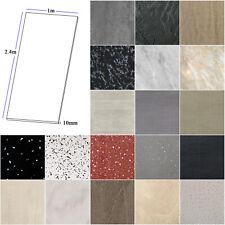1m x 2.4m Large Shower Panels Bathroom Cladding Wet Wall PVC 10mm Thick / Trims