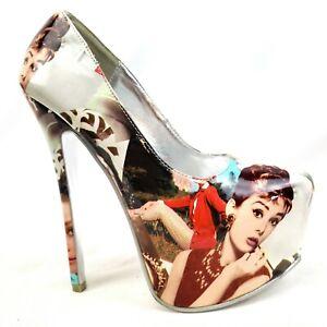 Audrey Hepburn Icon Stiletto Heels Shoe Republic LA 8 US