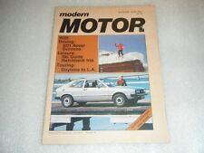 Vintage Modern Motor magazine August 1976
