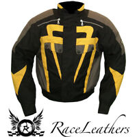 SALE CHEAP RK APEX SHORT LENGTH BLACK GREY YELLOW MOTORCYCLE MOTORBIKE JACKET