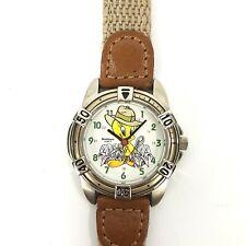 Vintage Armitron 1996 Warner Bros Tweety Bird Detective Wrist Watch Need Battery