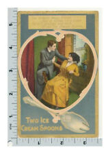 Spoon Series Postcard | Two Ice Cream Spoons | Romantic Couple in Love