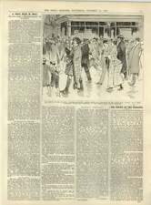 1891 Interview Emile Zola Strikers Escorting Sprow Mars After Magistrates