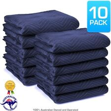 Pack of 10 Furniture Moving Van Removal Packing Transit Fabric Blankets 200cm x 150cm
