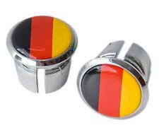 German Flag Bicycle Handlebar Chrome Plastic Bar End Plugs, Bungs, Caps L'Eroica