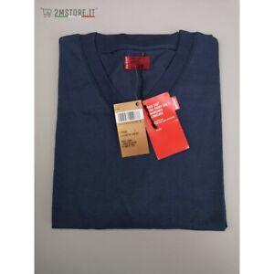 LEVI'S Camiseta Manga Larga Levis Lengüeta Roja V Cuello Tee Azul Navy Original