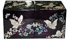 mother of pearl trinket jewelrybox jewel case organizer butterfly design #201