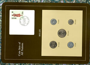 Coin Sets of All Nations Belize 1979-1983 UNC 25 cent 1981 10,50 cent 1980