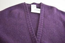 $3655 NEW CHANEL LUXURIOUS PURPLE CASHMERE CARDIGAN SWEATER JACKET Plum 38