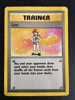 Lass 75/102 Rare Base Set Pokemon Card