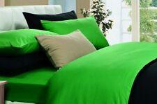 """IKEA Bettwäsche-Set """"Dvala"""" 220X240cm + 2x 50x60cm - NEON-GRÜN 100% Baumwolle"""
