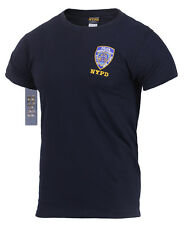 Officially Licensed Embroidered NYPD T-Shirt. UK Seller. Genuine New York Police