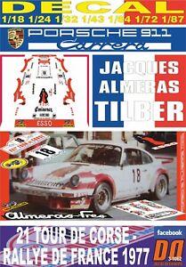 DECAL PORSCHE 911 CARRERA J.ALMERAS TOUR DE CORSE 1977 6th (06)