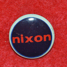 "Nixon dark blue background white rim Political Litho 7/8"" Button! Look"