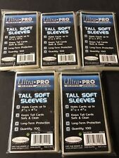 500 ULTRA PRO TALL SOFT CARD Sleeves NEW Sports Widevision Gameday 3x5 Trading