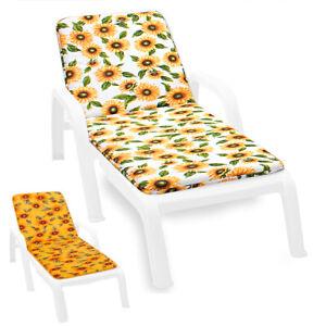 Cushion Sdeckchair Pool Sea Modern Sunflower Cover Sitting Sun Bed Soft Flowers
