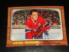 HENRI RICHARD 1966 Topps #8, Montreal Canadiens, Hockey Card, HALL OF FAME