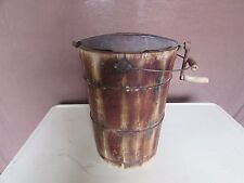 Antique Vintage Frost King 6 Quart Ice cream Maker Cedar Wood #2384