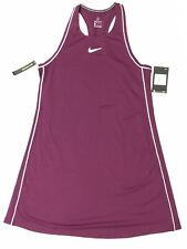 NIKE Dri Fit Slim Fit Womens Medium Tennis Dress Maroon White NWT 939308-609