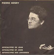"""PIERRE HENRY """"APOCALYPSE DE JEAN"""" LIVRET POUR COFFRET LP   PHILIPS 837.923/4/5"""
