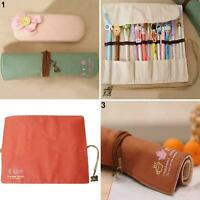 Canvas Bag Holder Wrap Roll Up Pen Brushes Makeup Pencil Case Pouch Intriguing