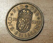 1953 Great Britain 1 Shilling Scottish Crest