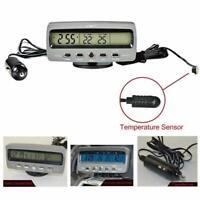 4 in1 Digitale Elettronico Voltmetro Orologio LED Termometro Auto Unversale