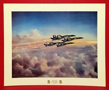 "BLUE ANGELS U.S. NAVY 11"" X 14"" POSTER PRINT 1996 50th ANNIVERSARY 1946 - 1996"
