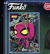 Funko Pop! Marvel BLACK LIGHT Spider-Man Poster Target In Hand