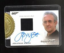 2016  James Bond Archives Spectre Edition Autograph Costume Jonathan Pryce card