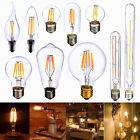 Dimmable E27 E14 2/4/6/8W Edison Retro LED Lampadine Lampada Filament Luce Bulbo