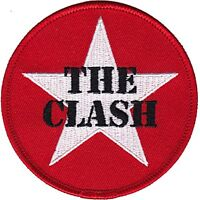 The Clash Estrella Logo con Plancha / para Coser Paño Parche 75mm x 75mm (Cv)