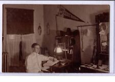 Real Photo Postcard RPPC - Medical Student in Room George Washington University