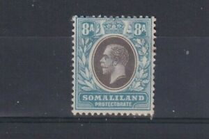 SOMALILAND PROTECTORATE 1913 8A Grey-Black and Pale Blue SG67 MM