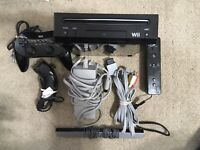 Nintendo Wii Holiday Bundle Black Console (RVL101) Tested + Free Shipping