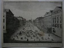 Optical view visionneuse feuille vienne mehlmarkt Orig CUIVRE clés 1780 nouveau marché