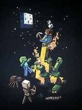 Minecraft Mojang Monster Attack Dark Blue Kid's Tshirt Size Youth XL